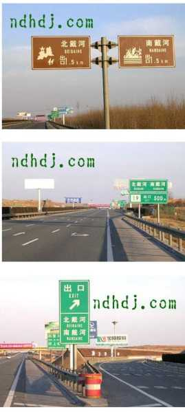 北京到南戴河京沈高速公路南戴河路口图示